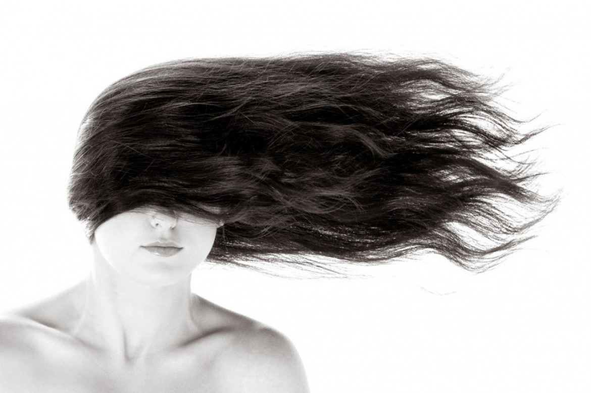 Olivia with gravity defying hair